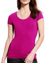 Lauren Ralph Lauren Stretch Cotton Scoopneck T-Shirt