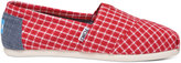 Toms Red Gingham Women's Classics