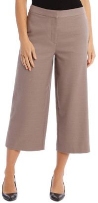Basque Check Wide Leg Cropped Pant