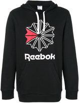 Reebok logo print hoodie