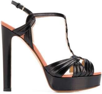 Francesco Russo T-bar platform sandals
