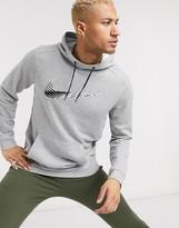 Nike Training Dri-Fit hoodie with swoosh logo in grey