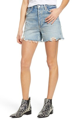 AGOLDE Dee Ultra High Waist Cutoff Denim Shorts