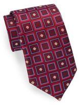 Saks Fifth Avenue Floating Flowers Silk Tie & Gift Box