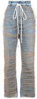Off-White straight-leg tulle jeans
