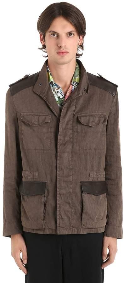 Etro Washed Linen Blend Field Jacket