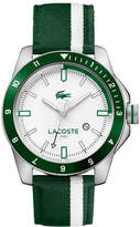 Lacoste Men's Durban Green And White Stripes Nylon Strap Watch