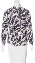 Elizabeth and James Silk Abstract Print Top