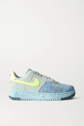 Nike Air Force 1 Crater Faux Leather And Mesh Sneakers - Gray