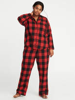 Old Navy Plaid Flannel Plus-Size Pajama Set