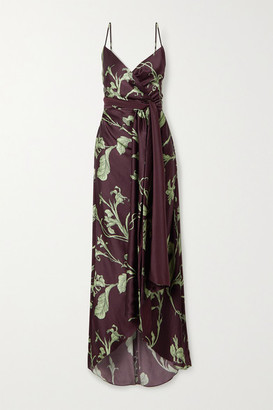Johanna Ortiz Given Promise Printed Silk-satin Maxi Dress - Brown