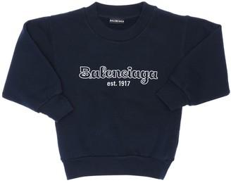 Balenciaga Logo Printed Cotton Sweatshirt