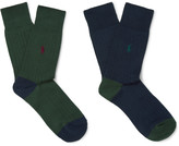 Polo Ralph Lauren Two-Pack Ribbed-Knit Cotton-Blend Socks
