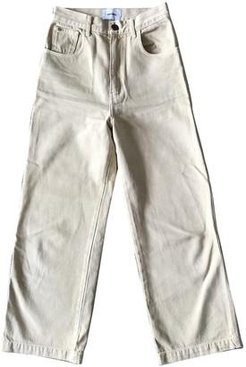 Nanushka Beige Cotton Jeans