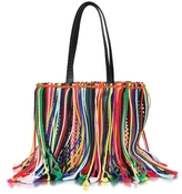 Emilio Pucci Multicolor Fringed Knot Canvas Tote