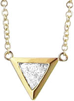 Jennifer Meyer Trillion Cut Diamond Pendant Necklace - Yellow Gold