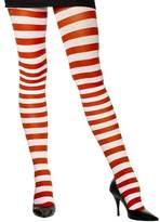 Fever Women's Opaque Tights and Striped, Red/White