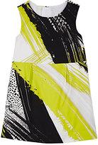 Milly BRUSHSTROKE-PRINT DRESS-WHITE SIZE 3