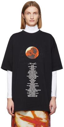 Vetements Black STAR WARS Edition Mustafar Episode III T-Shirt