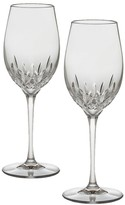 Waterford Set of Two Lismore Essence Crystal White Wine Glasses