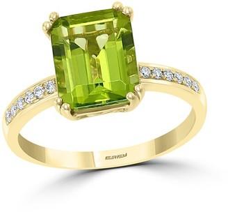 Effy Fine Jewelry 14K 3.63 Ct. Tw. Diamond & Peridot Ring