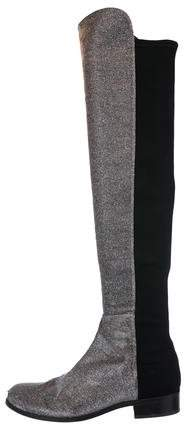 Stuart Weitzman Glitter Over-The-Knee Boots