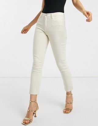 J Brand ruby high rise crop cigarette jeans in cream