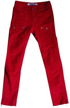 Zadig & Voltaire Red Velvet Trousers