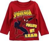 Marvel Spiderman Toddler Boys Long Sleeve Shirt Follow My Lead Tee