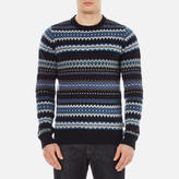 Barbour Heritage Caistown Fairisle Knitted Jumper Navy