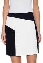 Kimora Lee Simmons Crepe Colorblocked Mini Skirt