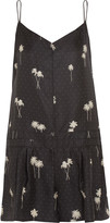Rag & Bone Dune printed silk-twill playsuit