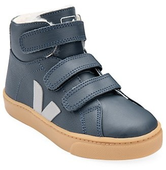 Veja Baby's, Little Kid's & Kid's Small Esplar Mid-Top Faux Fur-Lined Leather Sneakers