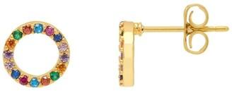 Estella Bartlett Multi CZ Circle Earrings