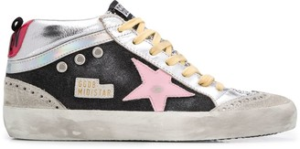 Golden Goose Mid Star lace-up sneakers