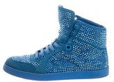 Gucci Coda Crystal Embellished High-Top Sneakers