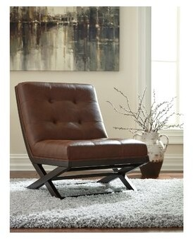"""Thumbnail for your product : Union Rustic Brinkerhoff 28"""" Wide Tufted Side Chair"""