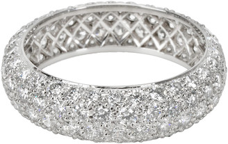 Tiffany & Co. Etoile 4 Rows Pave 2.90 Carats Diamond Platinum Ring Size 56