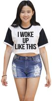 Me Women's I Woke up Like This Croped T-shirt