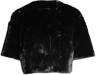 Glamour Puss Cropped Faux Fur Jacket