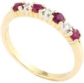 A B Davis 9ct Gold Half Eternity Diamond Ring