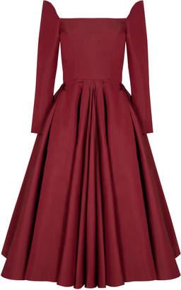 Bazza Alzouman Mid Calf Long Sleeve Dress