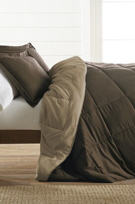 IENJOY HOME Treat Yourself To The Ultimate Down Alternative Reversible 3-Piece Comforter Set - Taupe - Queen