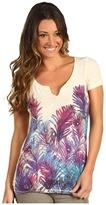 Lucky Brand Feather Print Tee Women's T Shirt