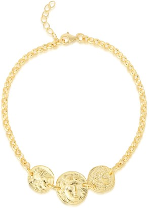 Sphera Milano 14K Yellow Gold Plated Sterling Silver Coin Charm Bracelet