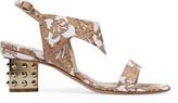 Nicholas Kirkwood Leda cork-appliquéd neoprene sandals