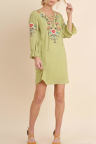 Umgee USA Green Boho Dress