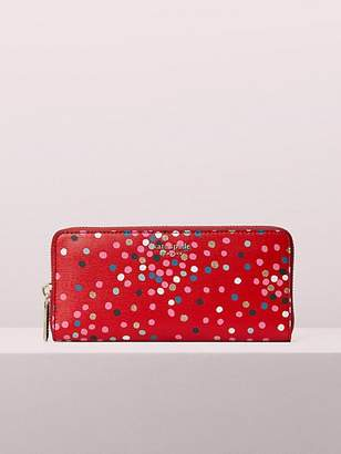Kate Spade Sylvia Disco Dots Slim Continental Wallet