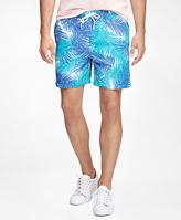 "Brooks Brothers Montauk 6"" Palm Print Swim Trunks"