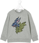 Burberry embroidered sweatshirt - kids - Cotton - 4 yrs
